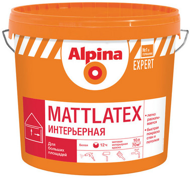 Alpina EXPERT Mattlatex 15л, 10л и 2,5л