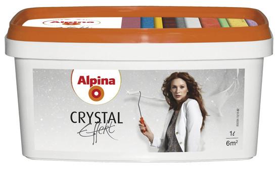 Alpina Crystal Effekt Золото, серебро и глитцер 1л