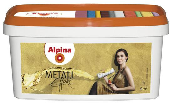 Alpina Metall Effekt Золото, серебро и бронза 1л
