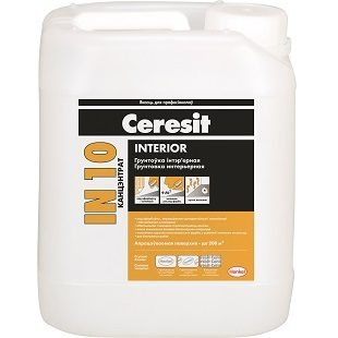 "Ceresit IN 10 ""INTERIOR"". Грунтовка интерьерная. Концентрат"