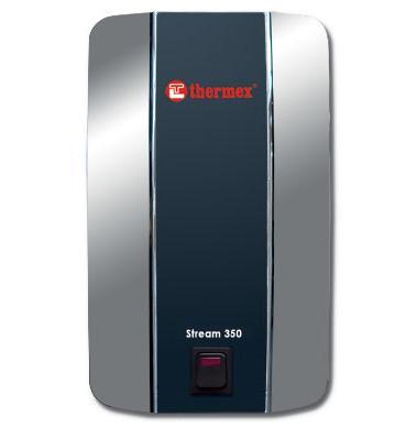 Электрический водонагреватель проточный THERMEX Stream 350 Chrome (кухня-душ). 3,5 кВт. Россия.